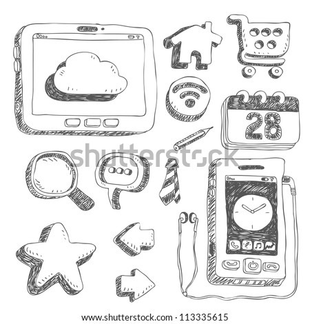 Black series  | Internet,business set - stock vector