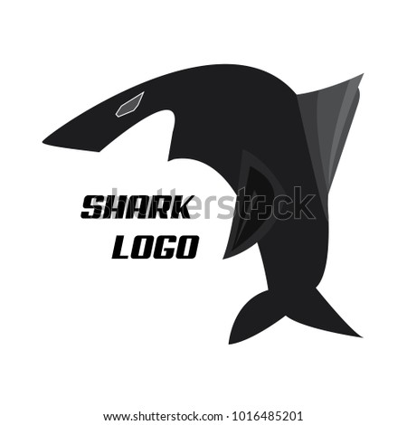 black shark logo template open mouthのベクター画像素材 1016485201