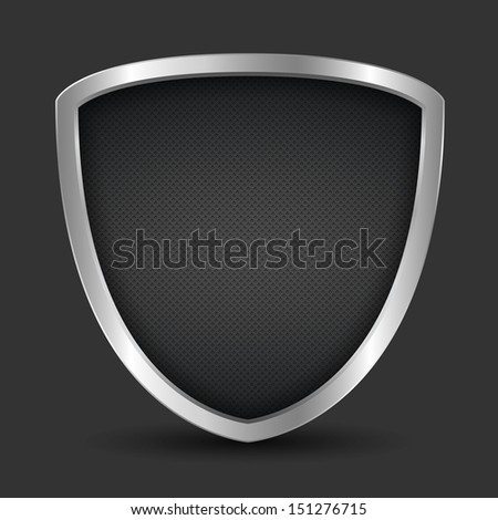 Black shield, vector eps10 illustration - stock vector