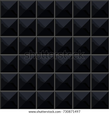 Brand-new Black Shiny Ceramic Tile Background Stock Photo (Photo, Vector  WH31
