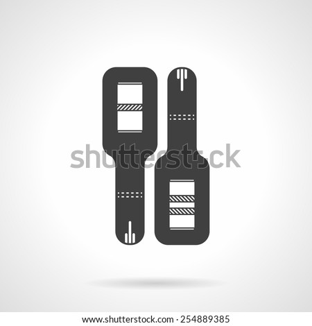 Black silhouette flat vector icon for positive and negative pregnancy test on white background. - stock vector