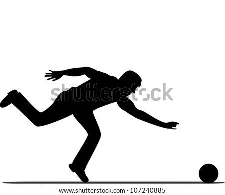 black silhouette of a man who throws the ball