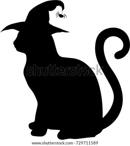 Black Cat Silhouette Stock Vector 459524176 Shutterstock