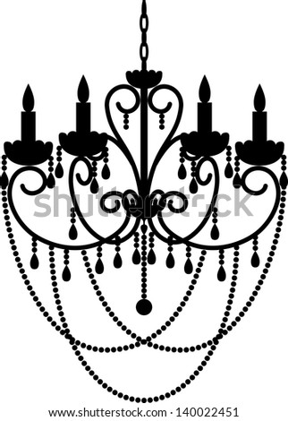 Black silhouette chandelier beads stock vector 140022451 black silhouette of chandelier with beads mozeypictures Choice Image