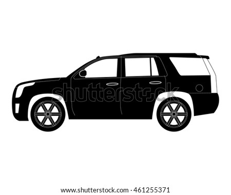 Suv Car Isolated On White Vector Stock Vector Shutterstock