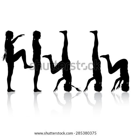 yoga headstand stock vectors  vector clip art  shutterstock