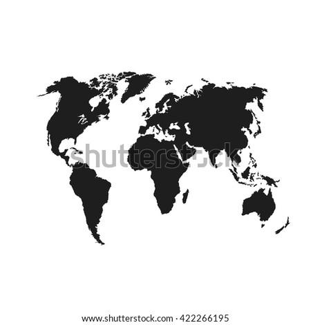 Black similar vector Political  world map. World Map vector. World Map flat. World Map blank.  World Map travel.  World Map template. World Map info graphic. World Map card. World Map icon.  - stock vector