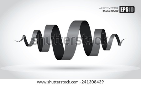 black spiral abstract object - stock vector