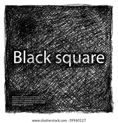 Black square - stock vector