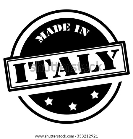 Black stamp with text Made in Italy,vector illustration - stock vector