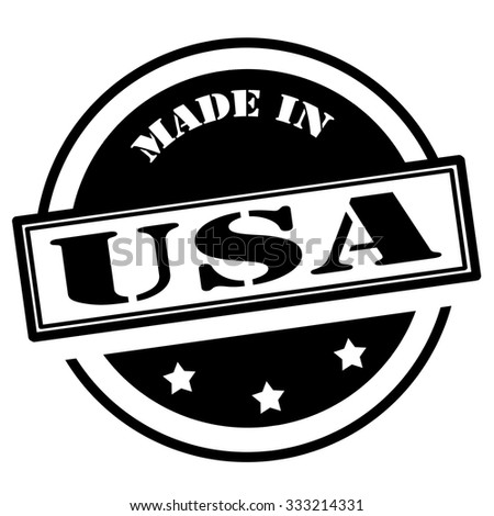 Black stamp with text Made in USA,vector illustration - stock vector