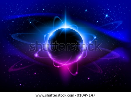 Black star. Abstract Space background for design.