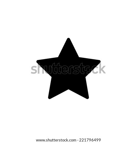 Black star - vector icon - stock vector