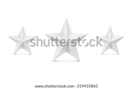 Black stars on white background. Vector illustration. - stock vector