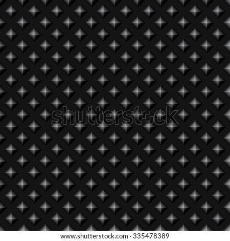 Black Studded Seamless Pattern - stock vector