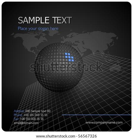Black stylish design layout - stock vector