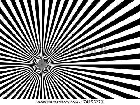 Black Sun Burst Effect. Vector - stock vector