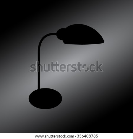 Black Table lamp vector, icon