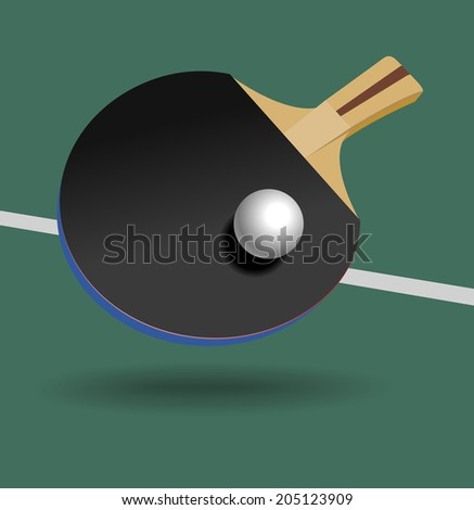 Black Table Tennis Racket And Ball