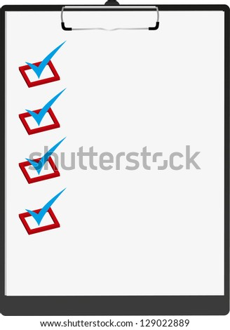 Black tablet for papers. - stock vector