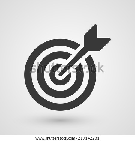 Black target. Icon about business strategies concept. - stock vector