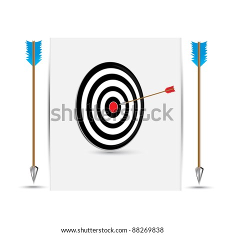 black Target with arrow - stock vector