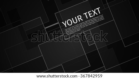 Black Technical Background with Copyspace | EPS10 Vector - stock vector