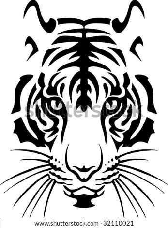 black tiger - stock vector
