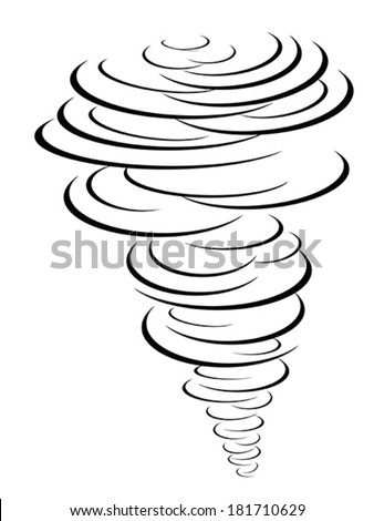 black tornado symbol - stock vector