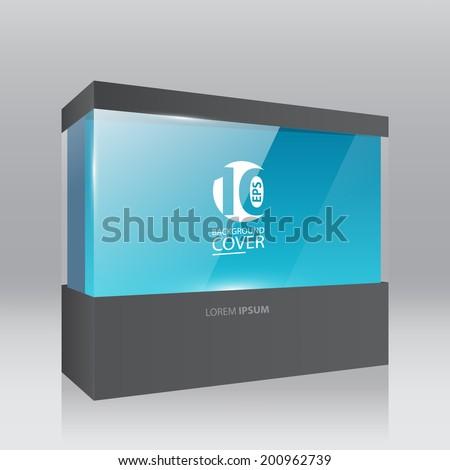 Black trade show panel, booth. - stock vector