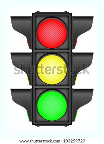 Black traffic lights, 10eps. - stock vector