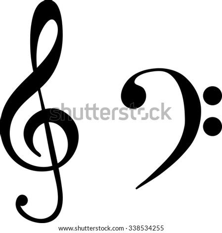 What is the difference between treble and bass clef?