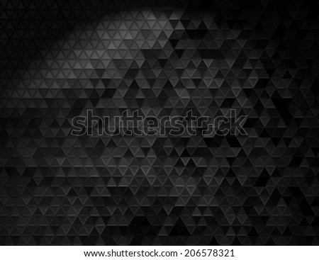Black triangle mosaic. Background design for poster, flyer, cover, brochure. - stock vector