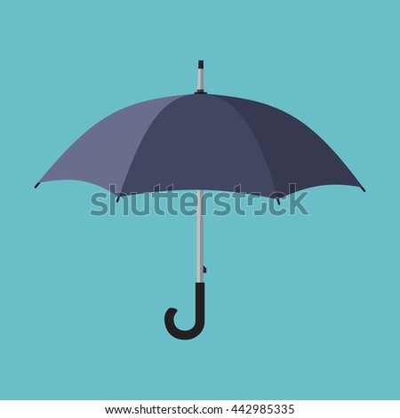 Black umbrella icon.