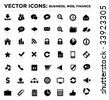 black vector business web finance icons 04 - stock vector