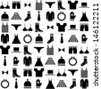 black vector clothing icons - stock