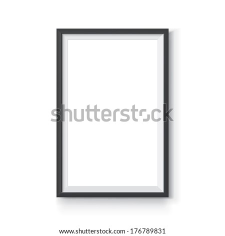 Black Vector Frame  6 x 4 proportions - stock vector