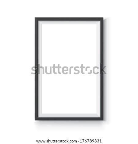 Black Vector Frame  6 x 4 proportions - stock vector