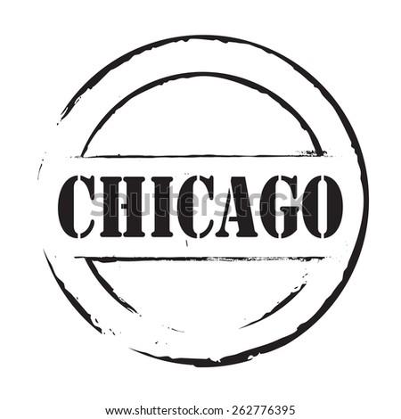 Black vector grunge stamp CHICAGO - stock vector