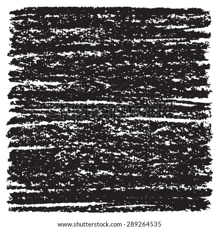 Black vector grunge texture. Rough, thick pen or charcoal hatching with artistic edges. Hand drawn template for design or illustration. - stock vector