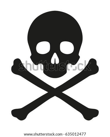 black vector skull crossbones icon pirate stock vector hd royalty rh shutterstock com skull and crossbones vector free download pirate skull and crossbones vector