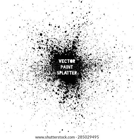 Black vector splatter background - stock vector