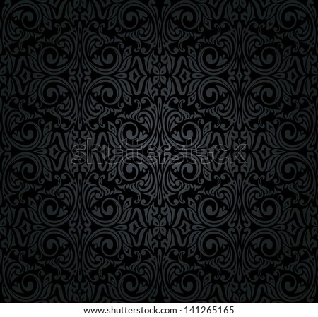 black  vintage wallpaper - stock vector