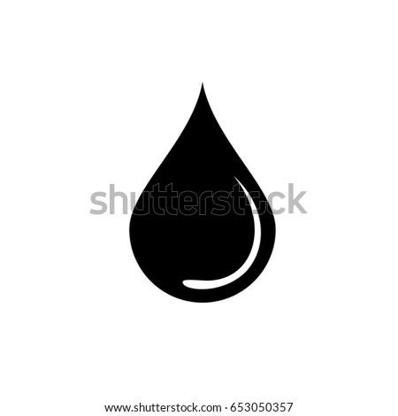 Black Water Drop Icon Sign Vector Stock Vector 2018 653050357