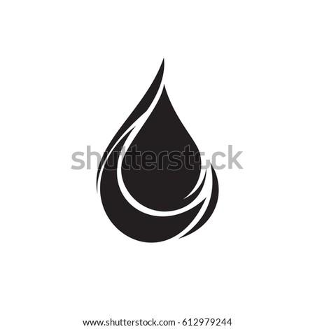 Black Water Drop Icon Sign Vectorwater Stock Vector 612979244