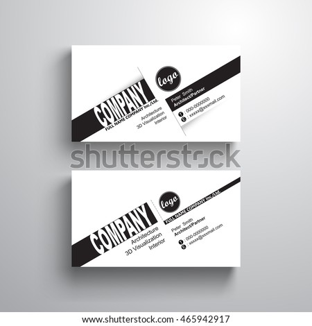 Black white design typography name card stock vector royalty free black white design typography name card template business card minimalist style vector accmission Images