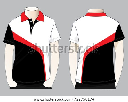 Black white red polo shirt design stock vector royalty for Polo t shirt design images