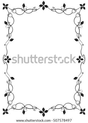 Black White Spiral Frame Border