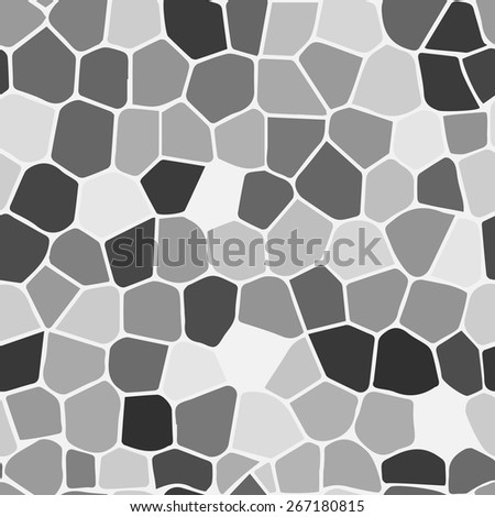 Black white stained glass Illustration (seamless texture) - stock vector