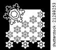 Black winter background - stock vector